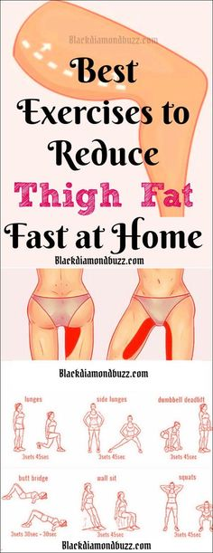 Best Thigh Fat Workouts to lose inner thigh fat, hips, and tone legs at home. These exercises will reduce thighs and hips fast in 7 days. Burn Fat Fast: Best Thigh Fat Workouts to lose inner thigh fat, h… Inner Leg Workout, Inner Thigh Workouts, Slim Legs Workout, Lose Hip Fat Exercises, Tummy Exercises, Training Exercises, Fitness Exercises, Exercises To Tone Thighs, Skinnier Legs Workout
