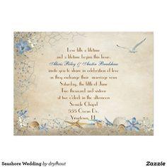 "Seashore Wedding 6.5"" X 8.75"" Invitation Card"