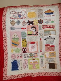 ".""@Missouri Star Quilt Company - If I won the Chevron Fat Quarter Bundle I'd make a picnic quilt/blanket.  I completed this quilt totally by hand, incl. hand quilting.  It's called Grandma's Kitchen,  pattern by Lori Holt."