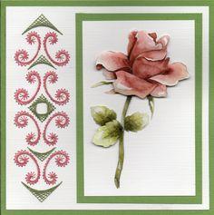 Roos met borduurrand
