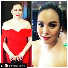 #Repost @pornstar_roviel with @repostapp. ・・・ In my makeup chair the Queen...thank you @claubarretto ate @mhitpimentel ate @marisol0125 ... #MEGAPinoyPrideBall #TheNEWPH #hairbyjaymer #makeupbyrovielcastor #claudinebarretto