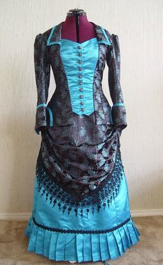 WEAR TO READY Hall Christine by Gown Bustle Steampunk Victorian