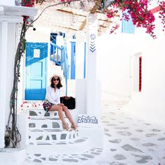 """MELANIE on Instagram: """"A GUIDE TO MYKONOS now live on blog (LINK IN BIO) // from where to eat, drink, stay, see, do and all my handy tips! #Honeymoon #Europe #Mykonos #SmithSummer"""""""