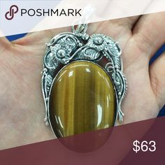 925 pendant Sterling silver, Tigers eye Jewelry Necklaces