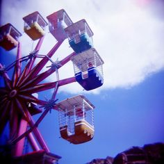 Taken with a Holga camera.  Reminds me of all the days I spent working in various amusement parks throughout the United States.