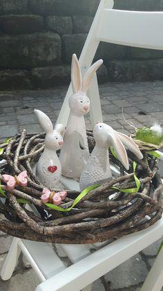 Osterhasen - Hasenfamilie 3 Hasen,Osterhase Bestellware*Keramik - ein Designerstück von Kerstin-Schwenk bei DaWanda