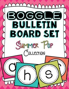 This is a PDF download for my ENTIRE Boggle Bulletin Board Letters - Summer Pop Collection!Have you ever heard of a Boggle Board before?! If not,  CLICK HERE!  to see amazing ideas on Pinterest! Boggle Boards are a great resource for early-finishers, morning work, dismissal work, brain teasers, enrichment, spelling practice, word work, and more!This product would be a great activity for ALL ages because the boggle possibilities are endless!