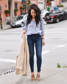 The classics never go out of style—@kateogata in all Stitch Fix everything. #regram