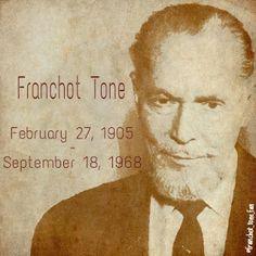 Remembering Franchot Tone www.franchottone.blogspot.com