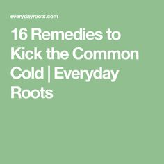 16 Remedies to Kick the Common Cold   Everyday Roots
