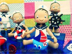 Marinheiros Fofinhos Biscuit (Cuddly sailors in cold porcelain)