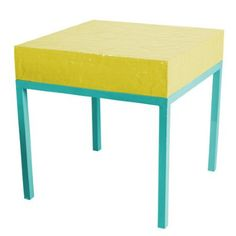 Two Tone Side Table Blue