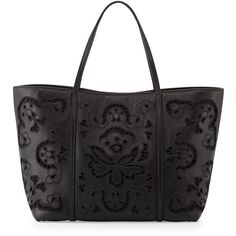 Dolce & Gabbana Leather Lace Shopping Tote Bag (€2.810) ❤ liked on Polyvore featuring bags, handbags, tote bags, borse, black, shopping tote, shopping tote bags, zippered tote bag, zip top tote and black leather tote