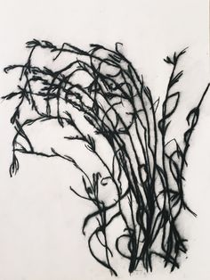 Grass charcoal drawing 420x594mm