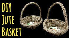 DIY Jute Basket   Make a Small Gift Basket at Home