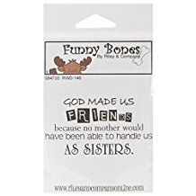"""Riley & Company Funny Bones Cling Stamp 2""""X1.25""""-God Made Us Friends"""