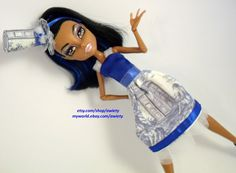 Doctor Who Traveling like Royalty Dress & Top Hat OOAK  by awiety, $28.25