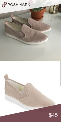 Karl Largerfeld Beige Clement Loafer 8.5 Beige and suede slip on sneakers with white bottom Karl Lagerfeld Shoes Sneakers
