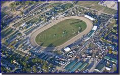 World reknown Little Brown Jug harness race, Delaware County Fairgrounds, Delaware, Ohio/world's fastest half-mile track/started in 1946