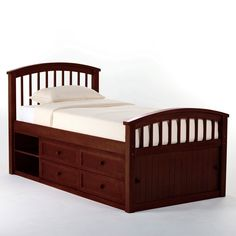Schoolhouse Captains Bed - Cherry