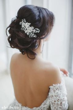 ANOTHER IDEA OF ACCESSORISING THE HAIR.  BUYING A COMB AND THEN WE COULD ADD SOME SMALL FLOWERS WHICH I WOULD WIRE INDIVIDUALLY AND YOUR HAIRDRESSER OR MYSELF WOULD FIT THEM.  I HAVE DONE THIS MANY TIMES SO AM ABLE TO DO IF SHE CAN'T