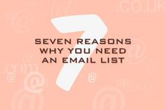 Seven reasons why you need an email marketing list - Talented Ladies Club