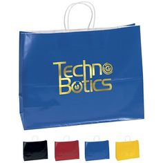 NEW Customized 16x12 Aubrie Color Gloss Paper Shopping Bag #341612 #retail #bags #logo #advertising #shopping