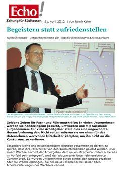 Gunther Wolf begeistert die Zuhörer mit seinem Vortrag über Mitarbeiterbindung. http://io-business.de/medien-presse-media-relations/pressespiegel/