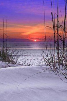 Sunset + white sand beach = WIN