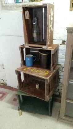 Gamle ølkasser KR. 175, - 250,- #Keramik&Vintagemøbler New Room, Liquor Cabinet, Scandinavian, Storage, Handmade, Furniture, Design, Home Decor, Purse Storage