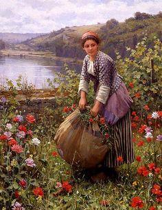 7 das Artes: Pinturas de Daniel Ridgway Knight (1839-1924).