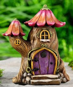 120 Easy And Simply To Try DIY Polymer Clay Fairy Garden Ideas. Polymer clay is a clay like material made from polyvinyl chloride (PVC), plasticizer and pigment. Fairy Tree Houses, Clay Fairy House, Fairy Garden Houses, Fairy Gardening, Tree House Decor, Polymer Clay Fairy, Clay Fairies, Clay Houses, Fairy Doors