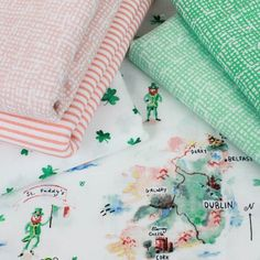 """Celebrate the land of shamrocks and take a little trip to Ireland with Dear Stella! As long as the """"Luck of the Irish"""" holds out, you may just find your pot of gold. #fabric #fabricworm #modernfabric #modernsewing #modernquilting #quilt #quilting #sew #sewing #sewingproject #dearstella #dearstellafabric #luckoftheirish # #sewcute #novelty #noveltyprints"""