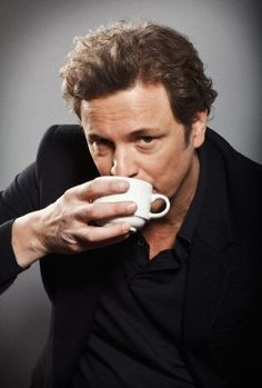 Colin Firth - another manly man (and amazing actor) sipping his tea. I will add that I'd be most delighted to share a cuppa with him! People Drinking Coffee, Drinking Tea, Sipping Tea, Colin Firth, Pause Café, Charming Man, Little Bit, Cuppa Tea, Coffee Drinkers