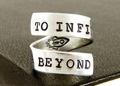 To Infinity and Beyond Ring  Rocket Ship  by fromtheinternet, $10.00