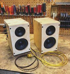 Homemade Handcrafted Wood Speakers