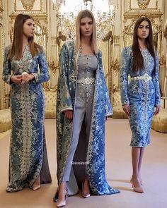 Romeo haute couture Morrocan Fashion, Oriental Fashion, Asian Fashion, Hijab Fashion, Fashion Dresses, Kaftan Pattern, Kaftan Moroccan, Hijab Chic, Caftan Dress