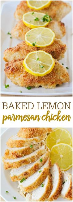 Lemon Baked Parmesan Chicken - tender, delicious chicken that is full of flavor! A hearty meal that the whole family will enjoy!