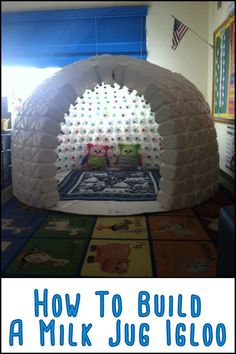 This Igloo Made From Repurposed Milk Jugs Will Keep The Kids Entertained For Hou. This Igloo Made From Repurposed Milk Jugs Will Keep The Kids Entertained For Hou. ideas For Kids Fun Crafts, Diy And Crafts, Arts And Crafts, Paper Crafts, Cool Kids Crafts, Handmade Crafts, Diy Crafts For Bedroom, Rock Crafts, Milk Jug Igloo