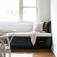 SUNBRELLA LINEN Custom Table Bench Cushion  Box Style