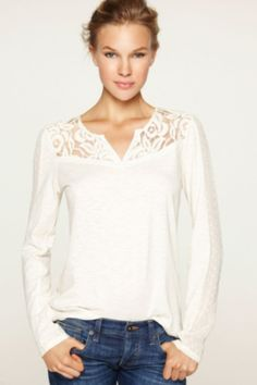 b37bcdaef49 Ethereal Lace Top  Lace Inset