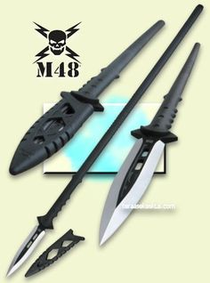 United Cutlery M48 Talon Tactical Survival Spear #survivalgearweapons