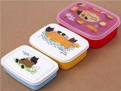 Kutusita Nyanko Bento Box 3 pcs Lunch Box cat fish