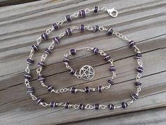 Witch's Ladder Amethyst Pagan Prayer Beads by AakosirsJewelryBox