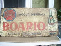 Boario card sign