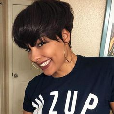 Today we have the most stylish 86 Cute Short Pixie Haircuts. We claim that you have never seen such elegant and eye-catching short hairstyles before. Pixie haircut, of course, offers a lot of options for the hair of the ladies'… Continue Reading → Short Hair Dont Care, Short Straight Hair, Short Hair Styles Easy, Short Hair Cuts, Medium Hair Styles, Curly Hair Styles, Natural Hair Styles, Natural Hair Pixie Cut, Quick Weave Styles