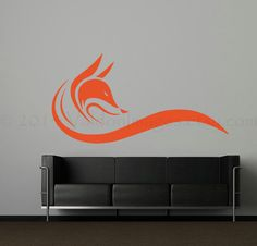 Fox abstract wall decal wall sticker decal wall by ValdonImages, $69.00