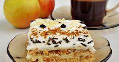 """Тази торта съм я записала още 2009 г като """"Лятна ябълкова торта с бисквити"""" на Карла Рахал. Същата е като нашумялата в последно вре... Cooking Bread, Bulgarian Recipes, Sweets, Baking, Desserts, Tailgate Desserts, Deserts, Gummi Candy, Candy"""