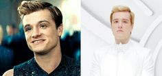 This is just breaking my heart. Peeta before hijacking and after. I already miss the old him. God, Mockingjay is going to tear me apart.