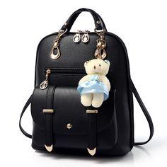 2017 Casual Women Backpack leather kanken backpack Mochila feminina Mochila mujer White Black school Bagpack Rucksacks for girls